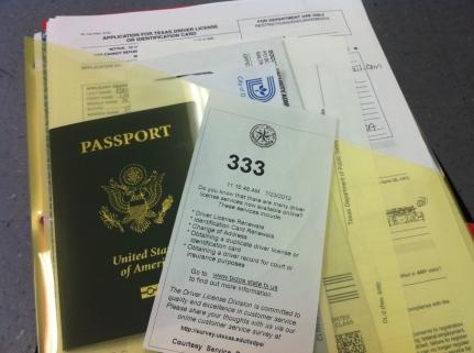 DMV Paperwork